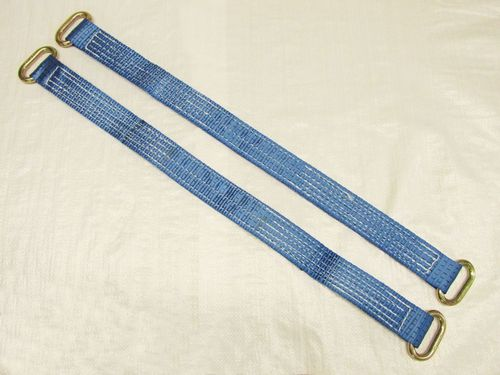 x2 30'' Wheel Strap With Oval Links - Blue Bridging Tractor Tie Down Recovery Trailer